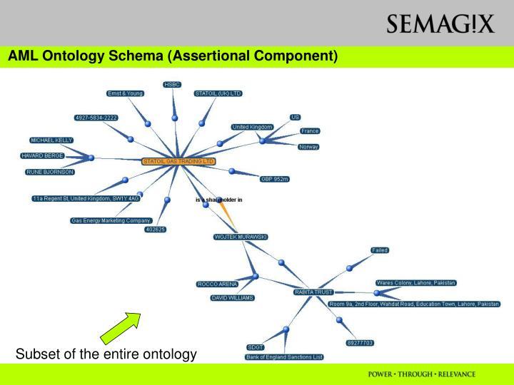 AML Ontology Schema (Assertional Component)