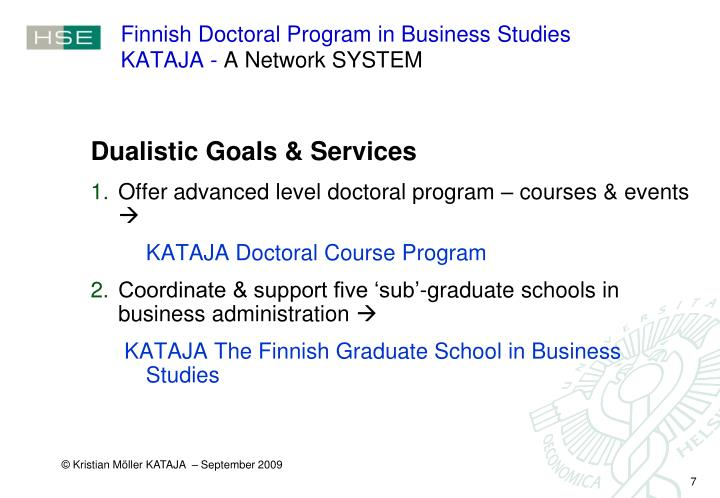 Finnish Doctoral Program in Business Studies