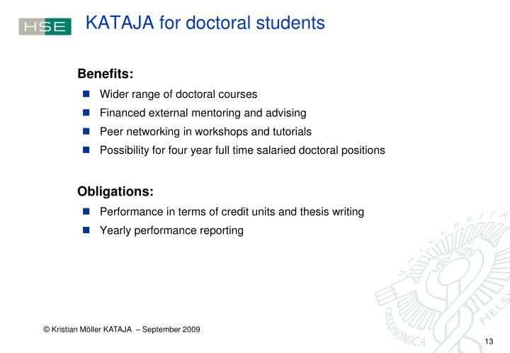 KATAJA for doctoral students