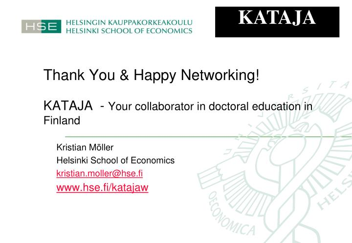 Thank You & Happy Networking!