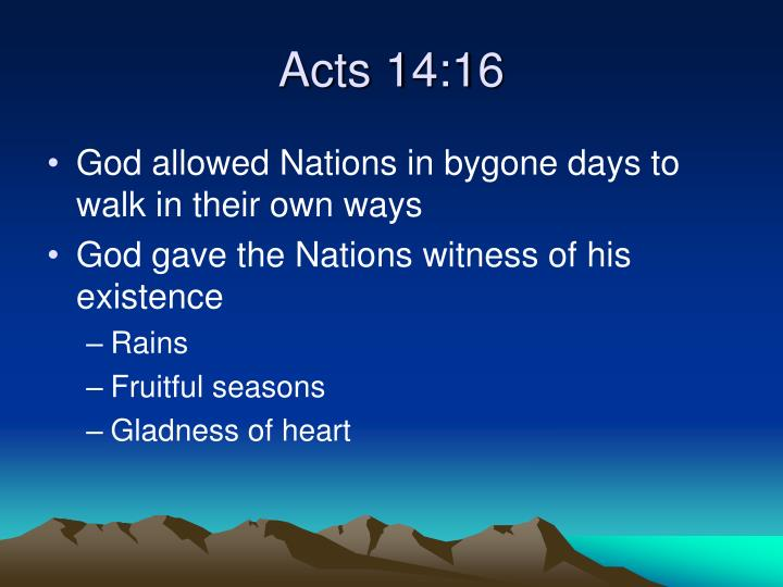 Acts 14:16