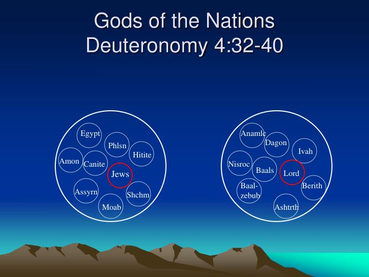 Gods of the nations deuteronomy 4 32 40