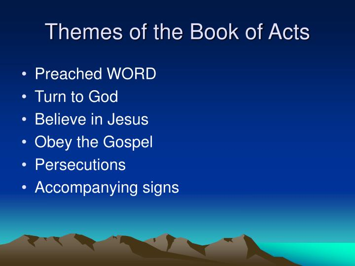 Themes of the Book of Acts