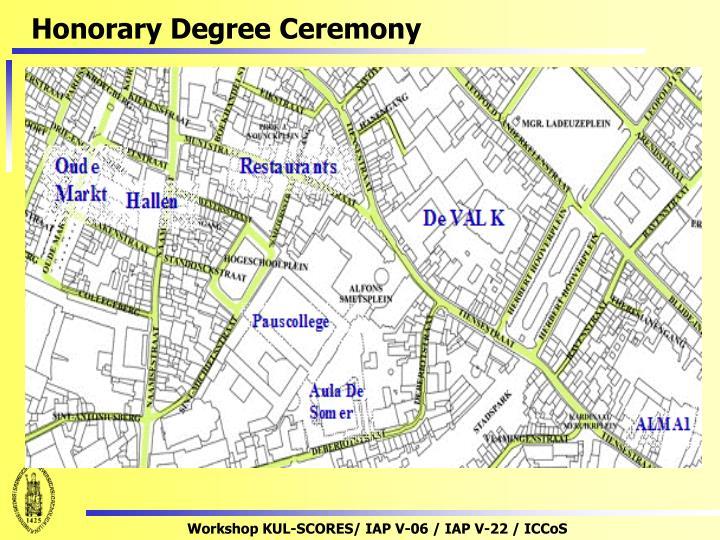 Honorary Degree Ceremony
