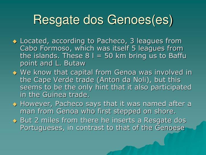 Resgate dos Genoes(es)