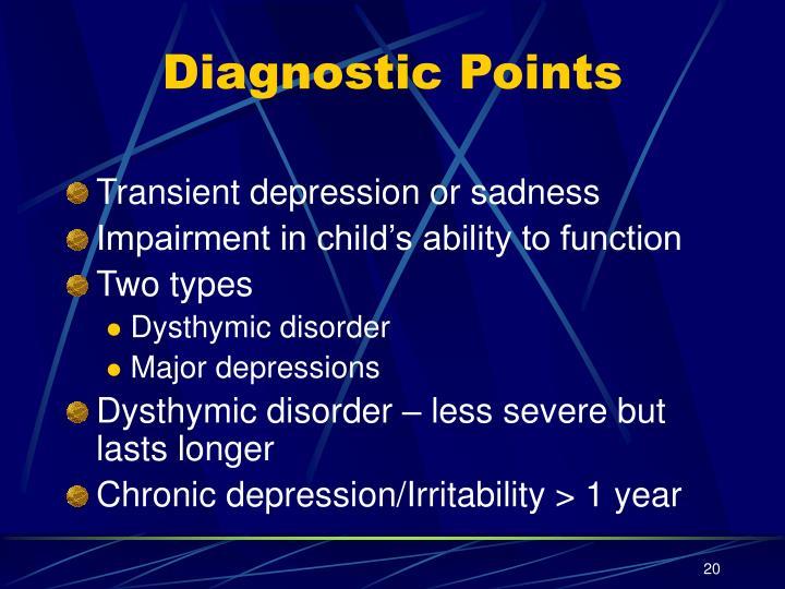 Diagnostic Points
