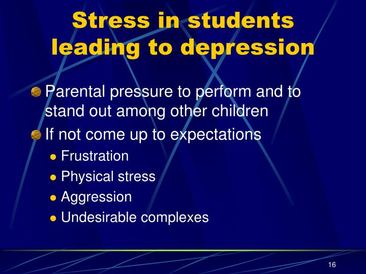 Stress in students leading to depression