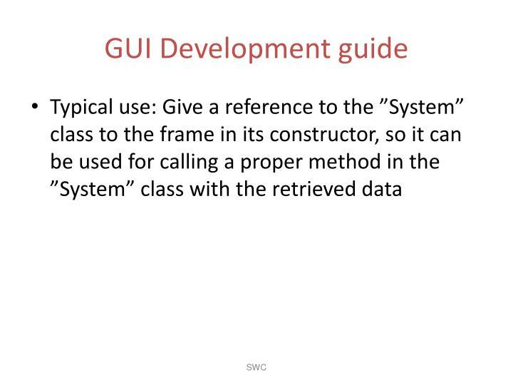 GUI Development guide