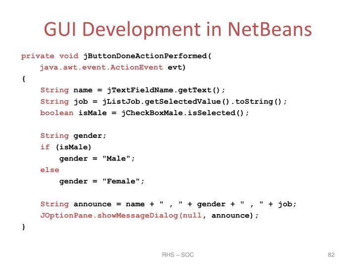 GUI Development in NetBeans
