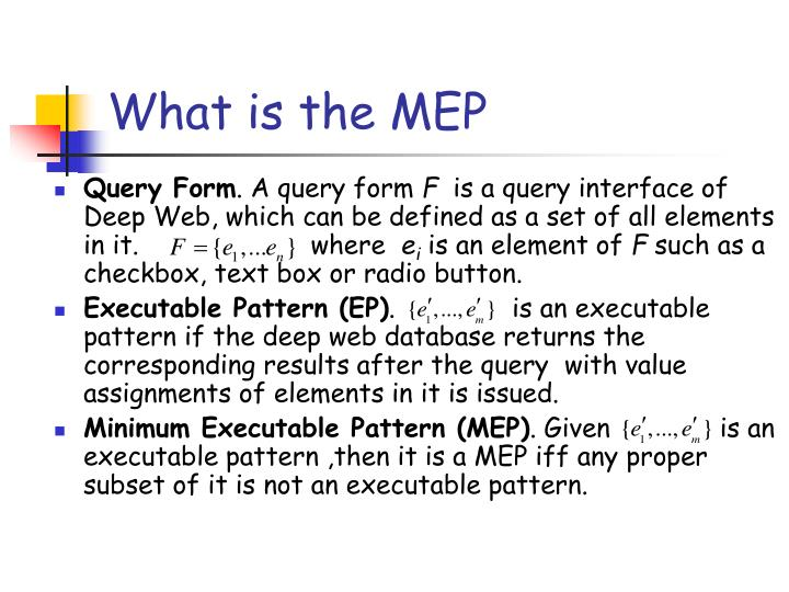 What is the MEP