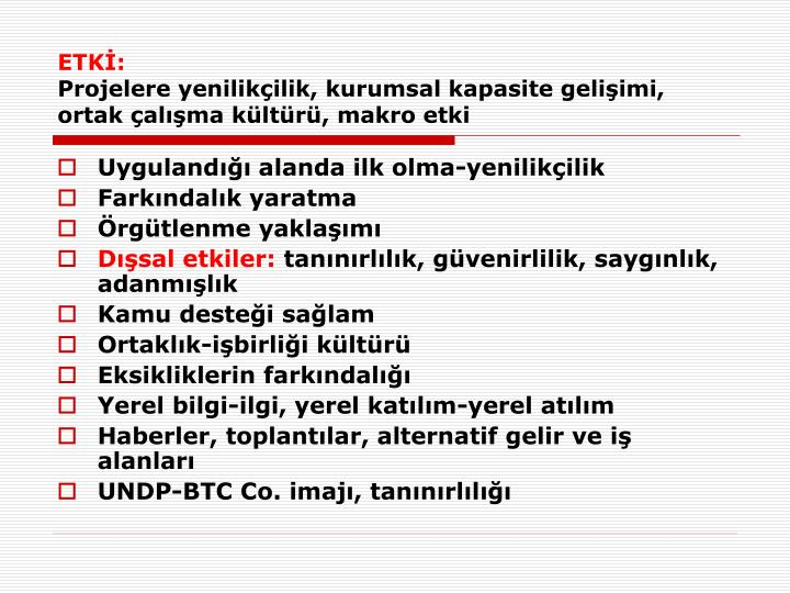 ETKİ: