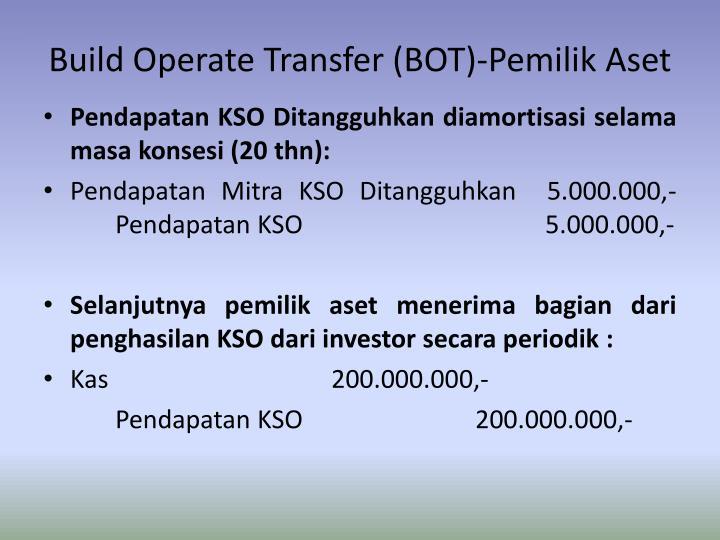 Build Operate Transfer (BOT)-Pemilik Aset