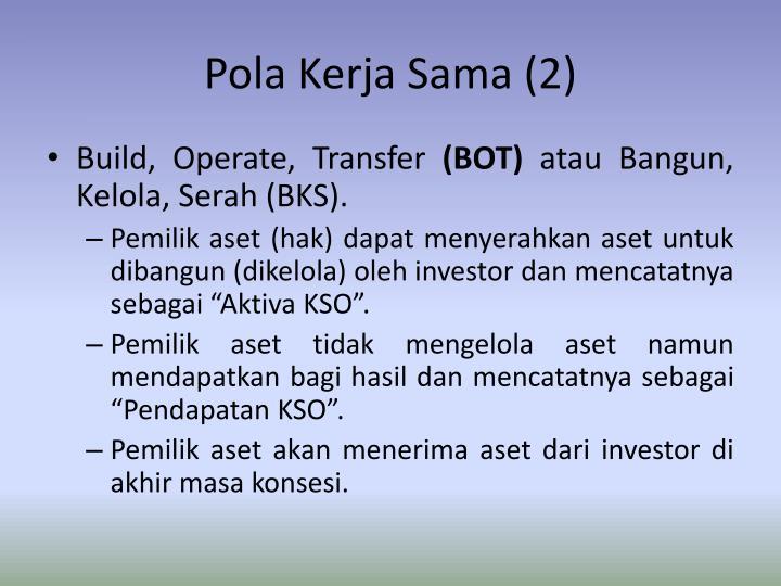 Pola Kerja Sama (2)
