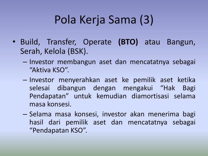 Pola Kerja Sama (3)