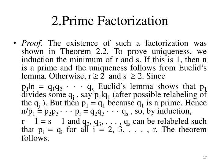 2.Prime Factorization