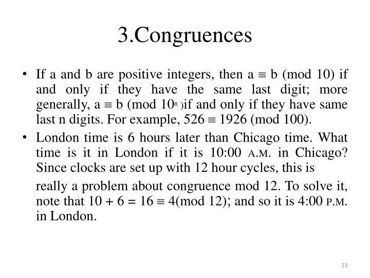 3.Congruences