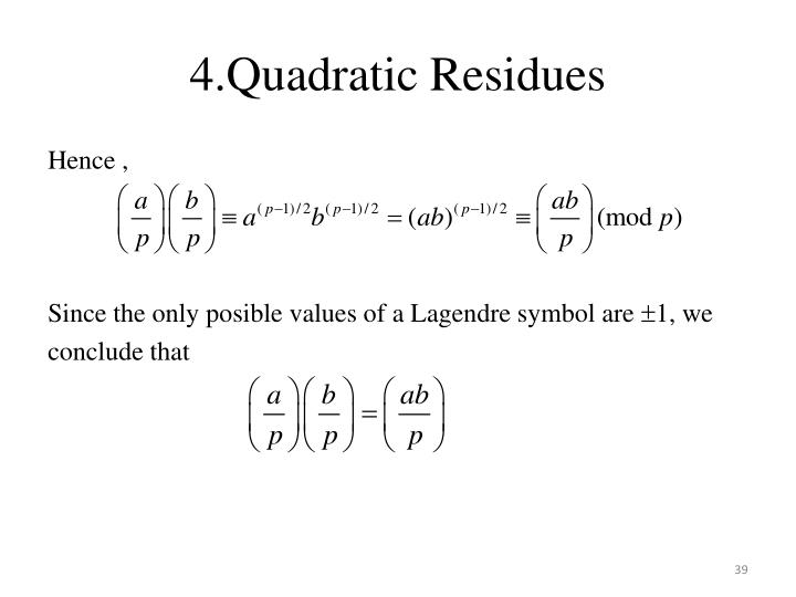 4.Quadratic Residues