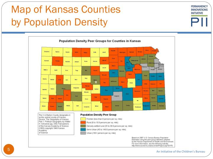 Map of Kansas Counties