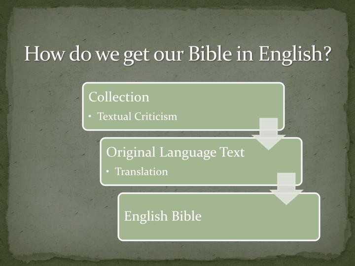How do we get our Bible in English?