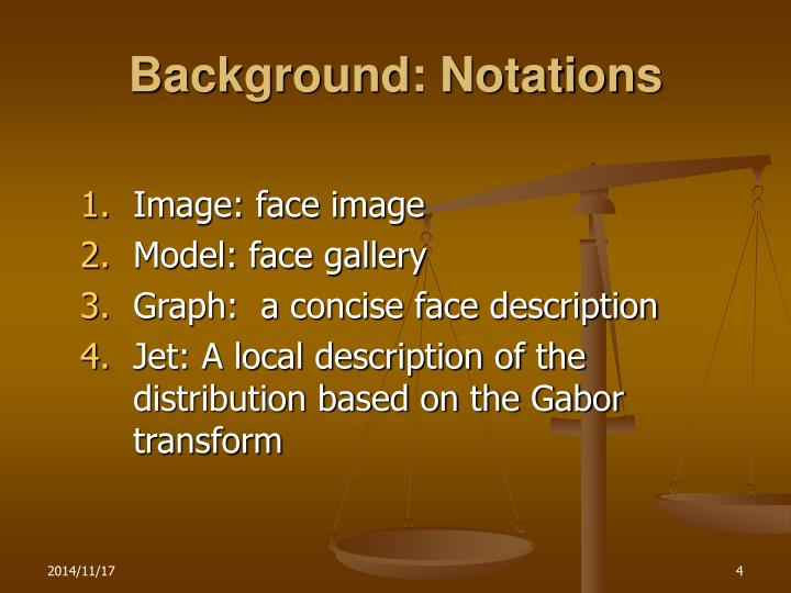 Background: Notations