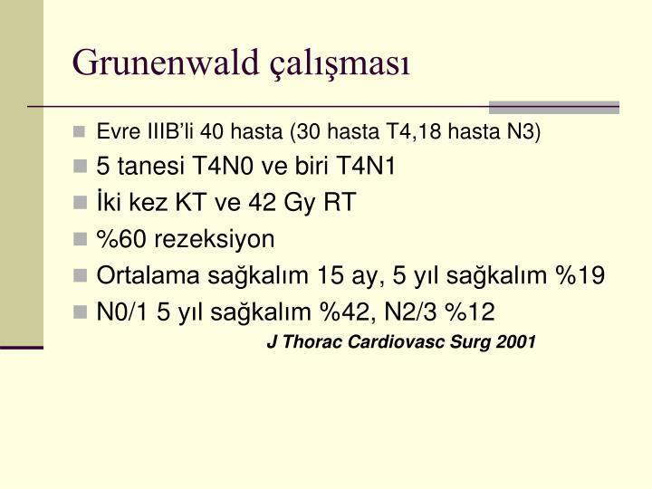 Grunenwald çalışması