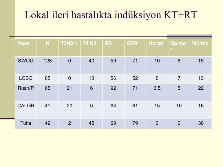 Lokal ileri hastalıkta indüksiyon KT+RT