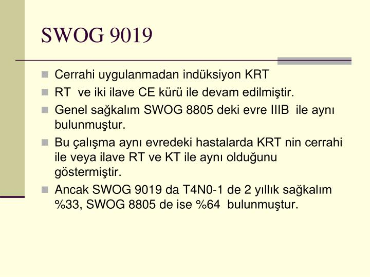 SWOG 9019