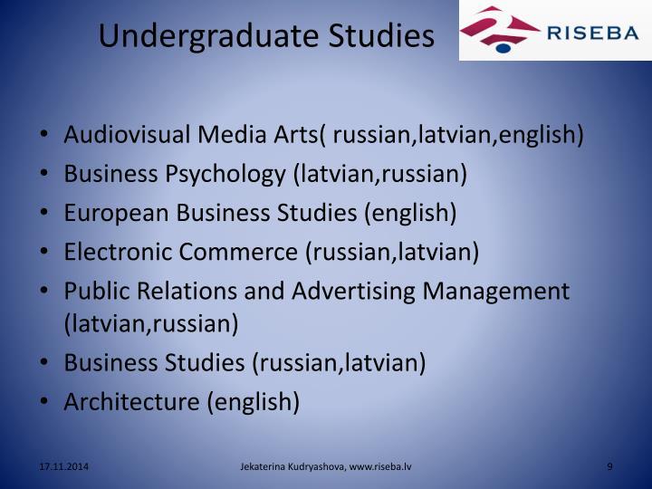 Undergraduate Studies