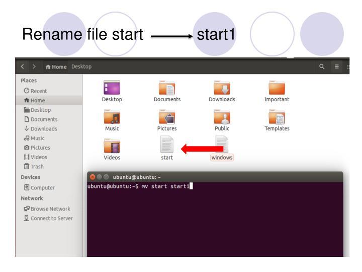 Rename file start            start1