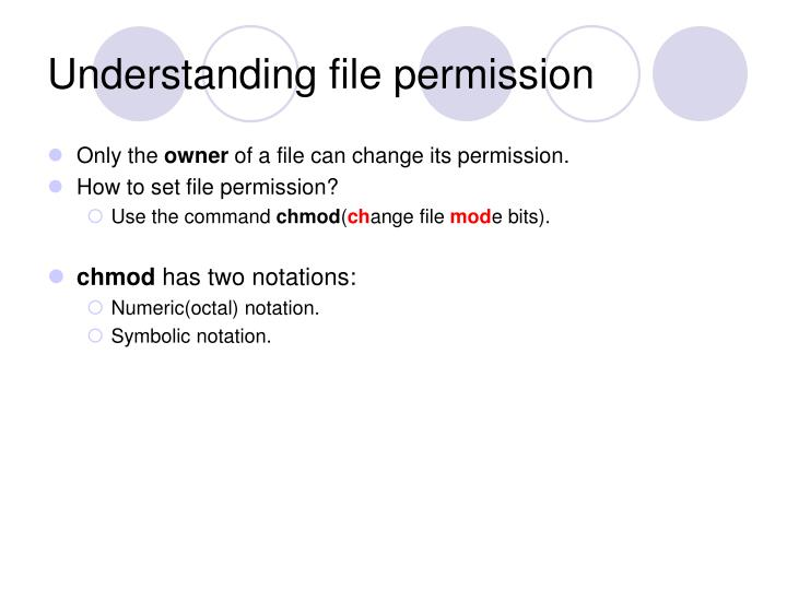Understanding file permission