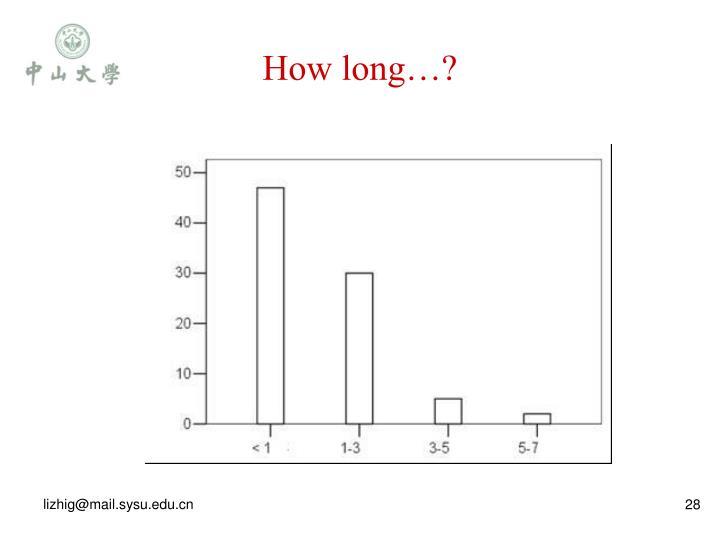 How long…?