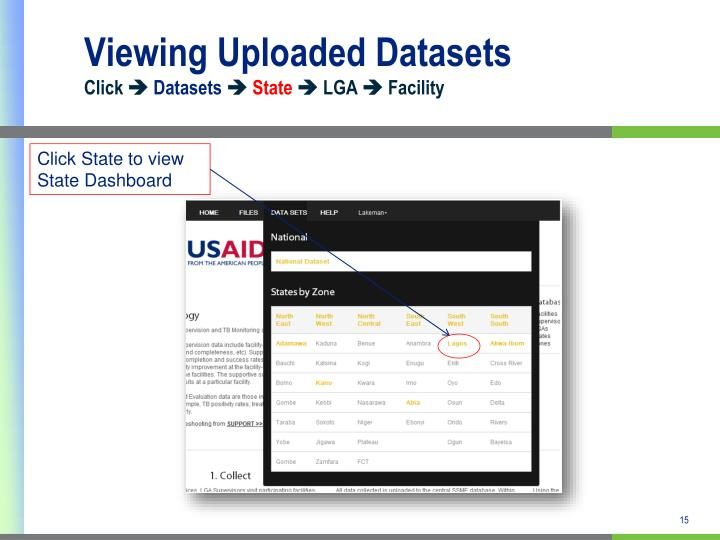 Viewing Uploaded Datasets