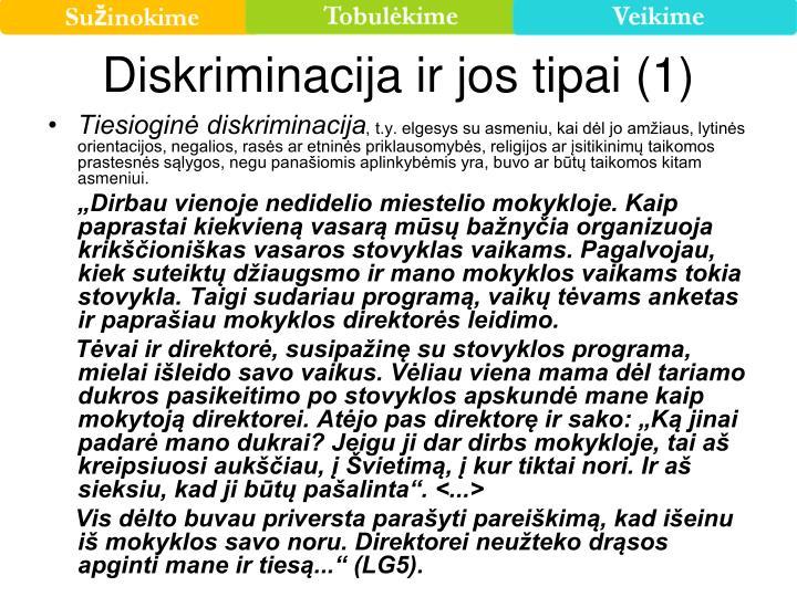 Diskriminacija ir jos tipai (1)