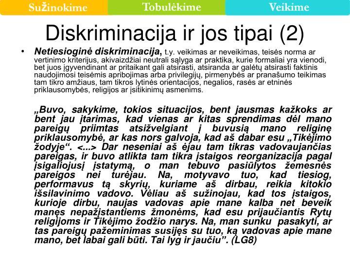 Diskriminacija ir jos tipai (2)