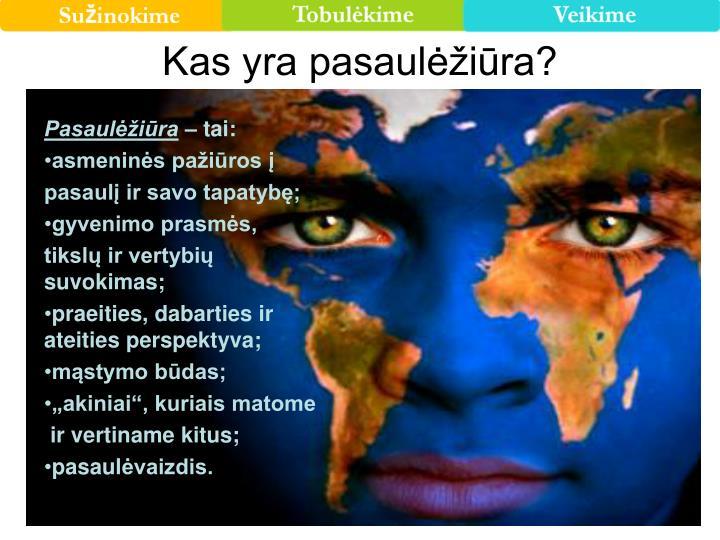 Kas yra pasaulėžiūra?