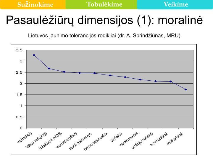 Pasaulėžiūrų dimensijos (1): moralinė