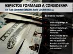aspectos formales a considerar en las comparecencias ante los medios 5