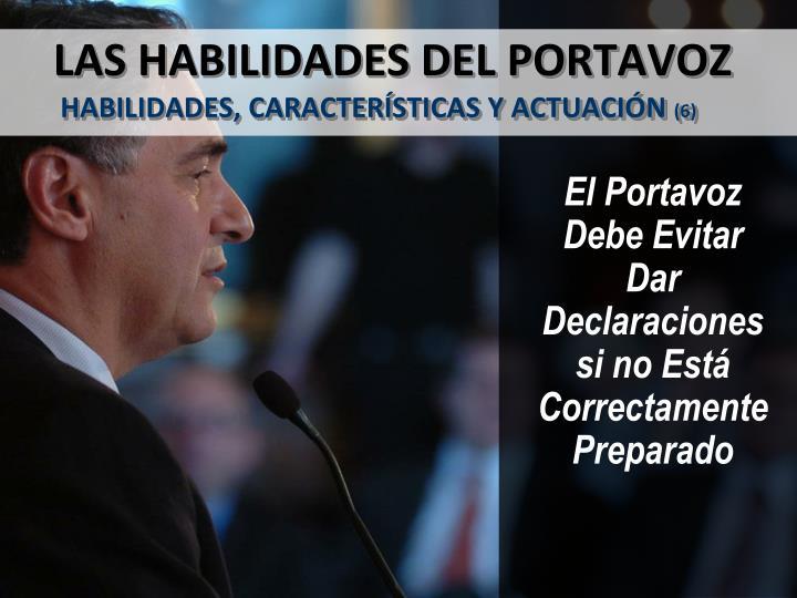 LAS HABILIDADES DEL PORTAVOZ