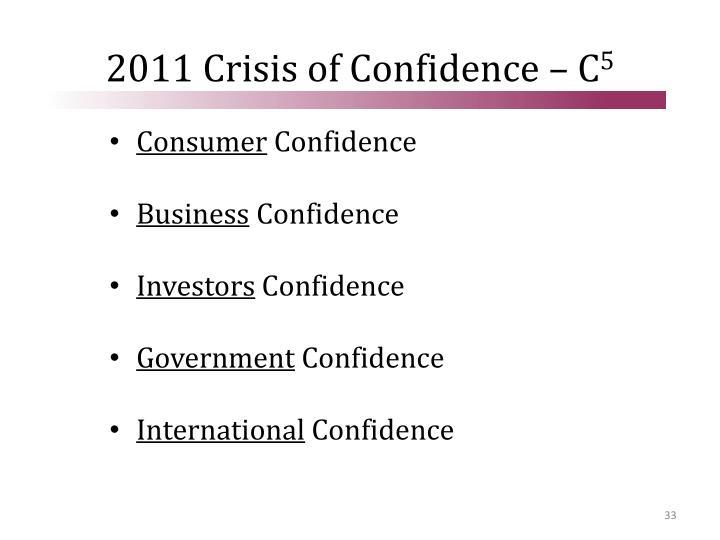 2011 Crisis of Confidence – C