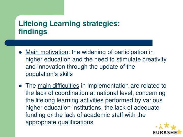 Lifelong Learning strategies: