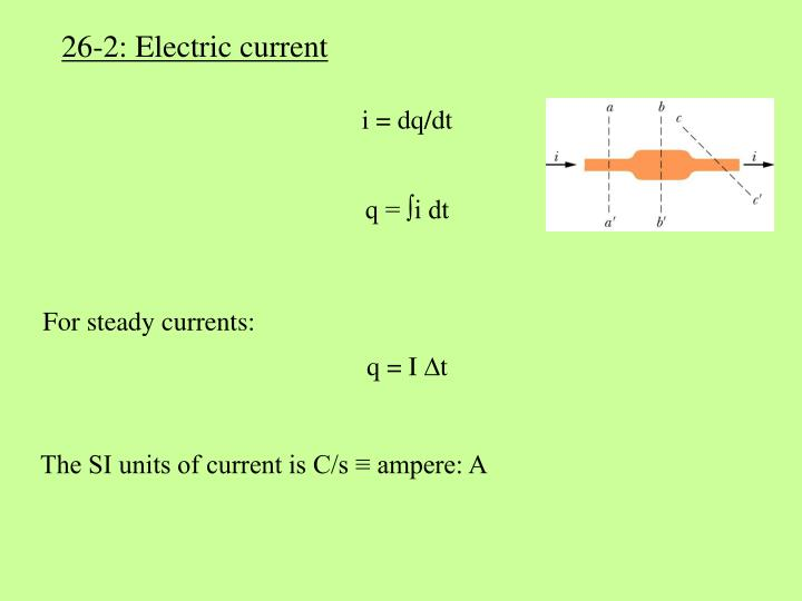 26-2: Electric current