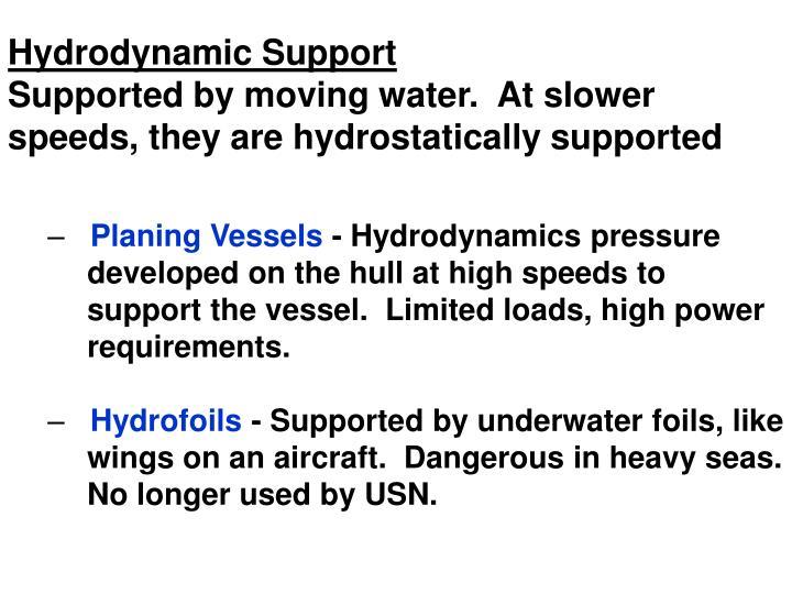 Hydrodynamic Support