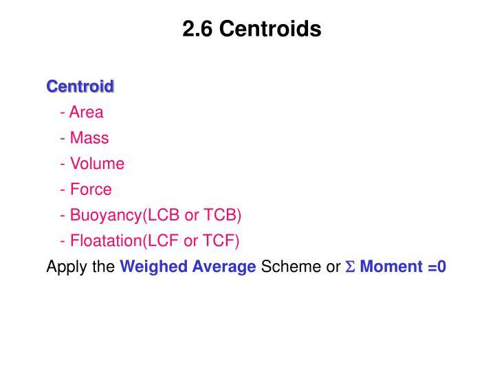 2.6 Centroids