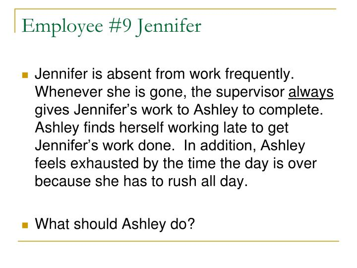 Employee #9 Jennifer