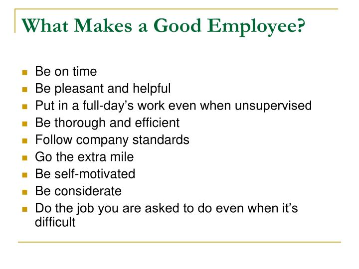 What makes a good employee2