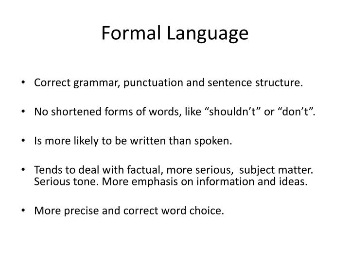Formal Language