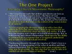 the one project emerging church movement philosophy3