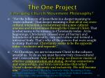 the one project emerging church movement philosophy4