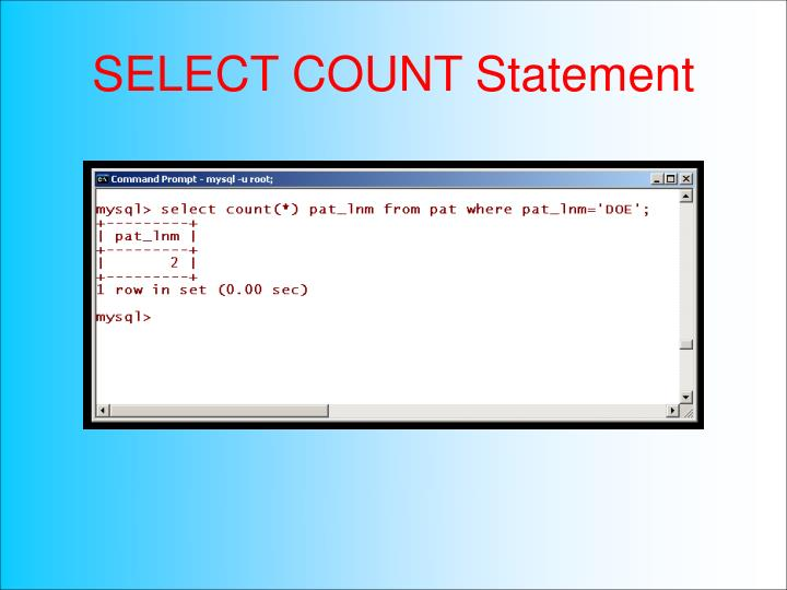SELECT COUNT Statement