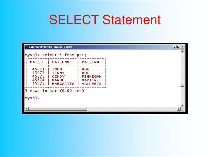SELECT Statement